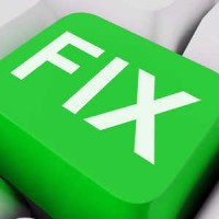 Green fix it button